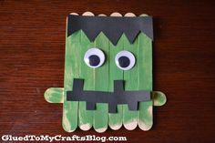 Popsicle Stick Frankenstein {Kid Craft}