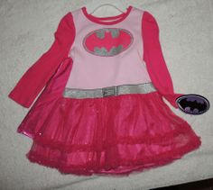 NEW Baby Toddler  Batman, Batgirl, Size 2T, Dress w/ CAPE,  Birthday Gift