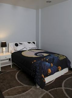 New Bedroom Wall Whatcha Think  Halloween  Pinterest Amusing Nightmare Before Christmas Bedroom Decor Review