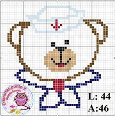 Cross Stitch For Kids, Cross Stitch Baby, Cross Stitch Animals, Cross Stitch Charts, Cross Stitching, Cross Stitch Embroidery, Beading Patterns, Cross Stitch Patterns, Little Stitch