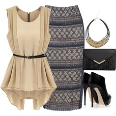 "Great set featuring CATO tribal neck! #catofashions  ""Untitled #446"" by evacaro on Polyvore"