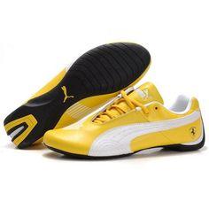26e4f43d031057 Puma Ferrari Future Cat GT Men s Yellow White Black Cheap Puma Shoes