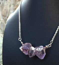 Chunky Amethyst Points Necklace Bohemian by CombustionGlassworks, $22.00