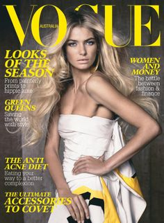 Cover with Jessica Hart March 2008 of AU based magazine Vogue Australia from Condé Nast Publications including details. Vogue Magazine Covers, Fashion Magazine Cover, Fashion Cover, Vogue Covers, Jessica Hart, Magazine Mode, Magazine Wall, Magazine Stand, White Strapless Dress