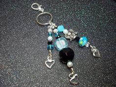 purse key chain charms | Aqua Angel Key Chain/Purse Charm.