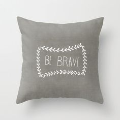 Grey Illustrated Decorative Pillow Cover Home Decor Inspirational Quote Throw Pillow Cover Home Accessory Typography Accent Pillow