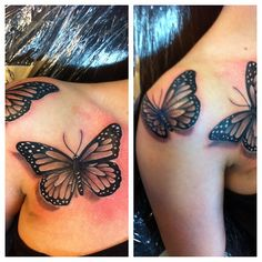 realistic butterfly tattoos gallery | Please click the pictures below for larger images and be sure and ...