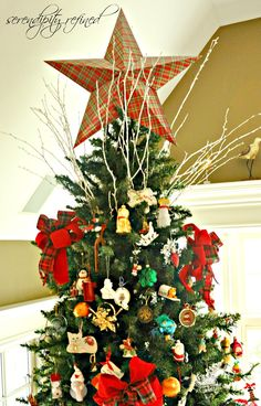 Cardboard Christmas Tree Top Star by Serendipity Refined