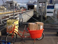 Picked up my @madsencycles in Pt Roberts, put it together, and rode to the ferry terminal with a full load!