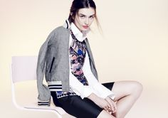 J.Crew Collection embellished merino shell. Summer 2014.