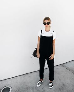 Outfits Archives - Page 4 of 105 - Mija The Sartorialist, Minimalist Fashion Summer, Minimalist Shoes, Celine, Black Overalls, Sneakers Fashion Outfits, White Outfits, Street Style Looks, Wearing Black