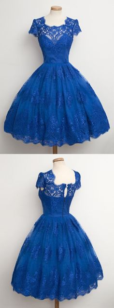 1950s vintage dresses,lace homecoming dresses,blue homecoming dresses,short homecoming dresses @simpledress2480
