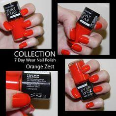 MichelaIsMyName: NOTD // COLLECTION 7 Day Wear Nail Polish Orange Z...