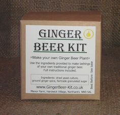 Ginger Beer Kit -  make your own homemade Ginger Beer  Gift Fathers Day