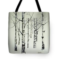 Contemporary Aspen Tote Bag by Terri Robertson.  The tote bag is machine washable, available in three different sizes, and includes a black strap for easy carrying on your shoulder.  All totes are available for worldwide shipping and include a money-back guarantee.