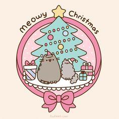 We wish you a Pusheen Christmas! We wish you a Pusheen Christmas! We wish you a Pusheen Christmas! And a lazy new year! Gato Pusheen, Pusheen Love, Pusheen Christmas, Christmas Cats, Merry Christmas, Christmas Holidays, Chat Kawaii, Kawaii Shop, Kawaii Drawings