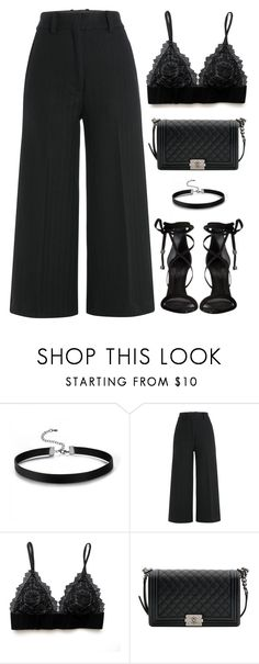 """#840"" by aliensforsale ❤ liked on Polyvore featuring Jil Sander, Chanel and Schutz"