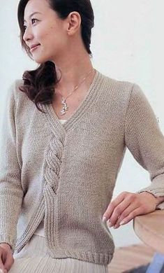 knitting вязание вязание ,Cardigans Pullover of the unique model with knitting needles. Crochet Pullover Pattern, Sweater Knitting Patterns, Knitting Stitches, Knitting Designs, Knit Patterns, Hand Knitting, Knit Crochet, Knitting Needles, Knitting Machine