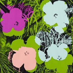 Available for sale from Hamilton-Selway Fine Art, Andy Warhol, Flowers, Screenprint on paper, 36 × 36 in Andy Warhol Flowers, Andy Warhol Pop Art, Andy Warhol Museum, James Rosenquist, Modern Art, Contemporary Art, Pop Art Movement, Jasper Johns, Flowers