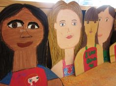 Giant cardboard self-portrait busts in grade four art lessons for kids art Art Lessons For Kids, Art Lessons Elementary, Art For Kids, Science Lessons, 4th Grade Art, Third Grade, Fourth Grade, Recycled Art Projects, Recycled Crafts