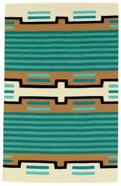 contemporary Navajo rug, turquoise