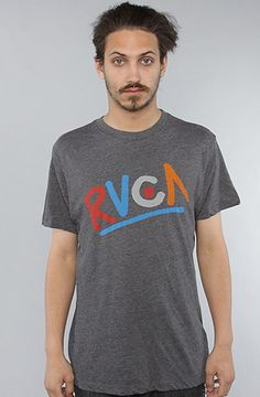 The RVCA Vintage Dye Tee in Black by RVCA