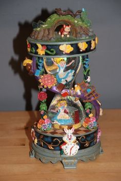Disney Alice in Wonderland I'm Late Down the Rabbit Hole Hourglass Snowglobe