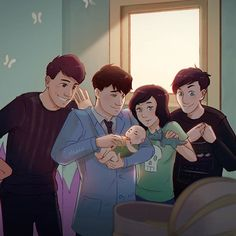 AHHHHHHHHH DAN AND PHIL ARE GRANDPARENTS! In the sims 4 of course.