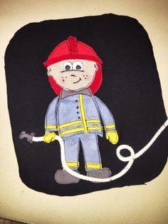 kostenlose Applikationsvorlage Feuerwehrmann free applique pattern firefighter