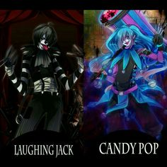 Laughing jack and candy pop<<Is it just me, or does it look like they're about to brawl/rap battle? They're about to dance battle. Familia Creepy Pasta, Creepy Pasta Family, Creepypasta Slenderman, Creepypasta Characters, Laughing Jack, Digital Art Beginner, Emo, Ben Drowned, Candy Pop