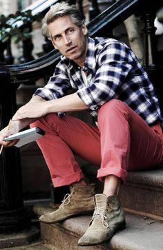I want me some Nantucket reds to go with my plaid and greyin hair-Men's Health Look Book