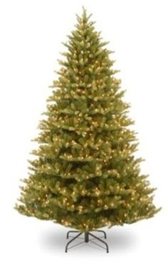 "National Tree PENM1-310-75 7.5' ""Feel-Real"" Normandy Fir HingedTree with 1000 Clear Lights"