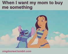 When I want my mom to buy me something Stitch gif!