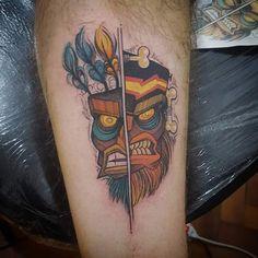 New Aku/Uka tattoo! Feather Tattoo Design, Owl Tattoo Design, Feather Tattoos, Nature Tattoos, Flower Tattoo Designs, 90s Tattoos, Cartoon Tattoos, Anime Tattoos, Nerd Tattoos
