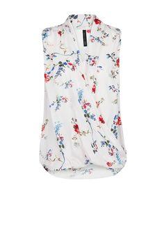 Floral print wrap top