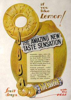 1930 Lemon Lifesavers Candy Ad