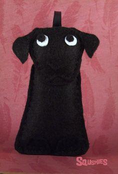 Felt Dog Ornament - Max the Black Lab