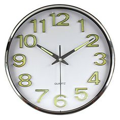 """12""""H Business Stainless Steel Wall Clock – GBP £ 33.01"""