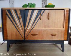 SOLD Mid Century Sideboard, Vintage Retro Storage Cupboard on Etsy, $618.66