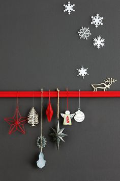 Idée déco de Noël Decorations - Snowflake decorations Design Dispensary. - Background painted with Pure Wall Flat in Oyster Grey,...#Noel #Christmas