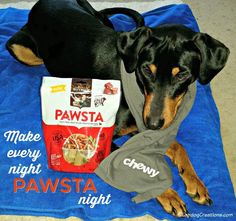 Make every night PAWSTA night! ©LapdogCreations #sponsored Dog Products | Dog Mom | Rescue Dog | Pet Adoption | Dog Treats | Chewy: