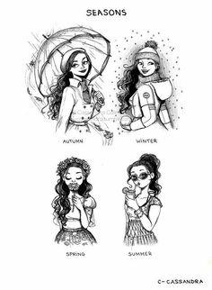 Outono, inverno, primavera e verão..