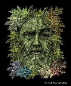 green man tattoo - Google Search