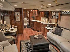 Luxurious Motorhomes Interior | ... Prevost conversion - luxury motorcoach - Roaming Times new RV reviews