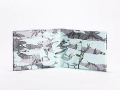 Wallet Set Tyvek Print Pattern Handmade CrispyWallet Deers Camouflage Winter Design