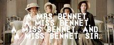 Cap'n Quote: Brenda Blethyn (Mrs. Bennet), Carey Mulligan (Kitty Bennet), Jena Malone (Lydia Bennet) & Talulah Riley (Mary Bennet) - Pride & Prejudice (2005) directed by Joe Wright #janeausten