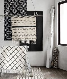 Cotton rugs in different colours and patterns.   H&M Home