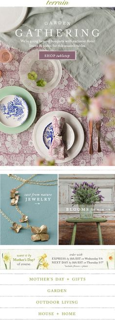 Fresh #floral finds for the #tabletop at #shopterrain May 3