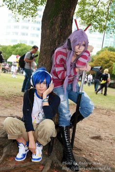 Vocaloid cosplay in Autumn season Event : Asia Vocaloid Festa cast cosplayer Kaito : Kaname☆ Gakupo : YUEGENE