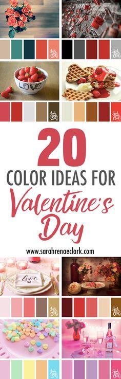 20 Color Ideas For Valentine's Day | Color Palettes, Color Schemes, Color Inspiration | www.sarahrenaeclark.com